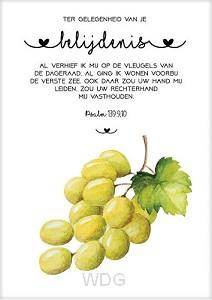 Kaart belijdenis druiventros
