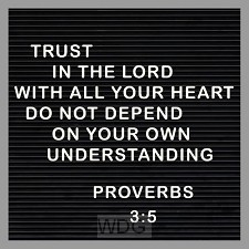 Kaart trust in the Lord