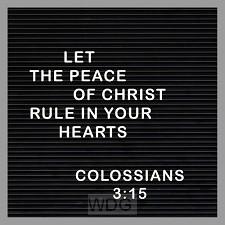 Kaart peace of Christ