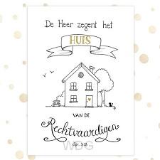 Poster de Heer zegent het huis