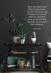Poster wie hoopt op de Heer