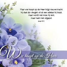 Kaart wie hoopt op de Heer