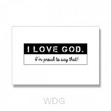 Kaart I love God