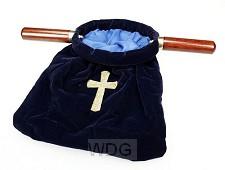 Collectezak blauw kruis