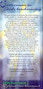 Kaart vertrouwen Gods bescherm