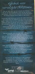 Kaart gebed voor vervolgde christenen