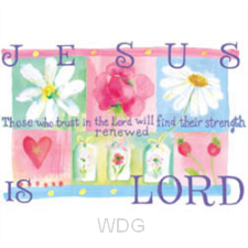 Jesus is Lord -flowers