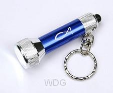 Zaklamp LED/sleutelhanger 6.5cm