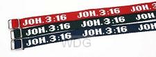 Armbandje joh 3:16 donkerblauw