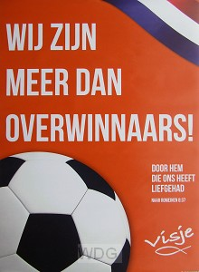 Poster WK voetbal meer dan overwinnaars