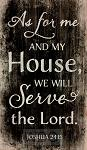 As for me and my house