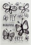 Fly free - Clear stamps