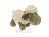Fluffy sheep curly 20cm