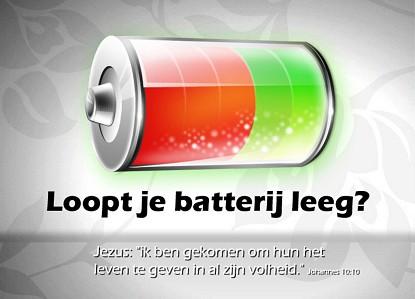 Batterij leeg?