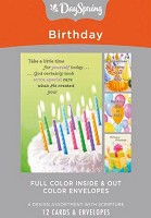 Birthday - Blessed and Bright : Boxed cards - 3 x 4 designs