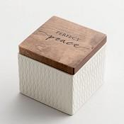 Perfect peace - Textured : Keepsake box - 89 x 83 x 89 mm