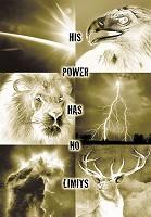 Poster A2 His power has no limits : Christelijke poster