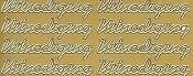 Stickervel : Stickervel uitnodiging 44 p vel goud