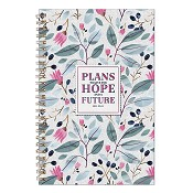 Plans to give you hope and a future : Wirebound notebook - 140 x 216 mm