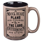 A man's heart plans his course : Mug - 420 ml