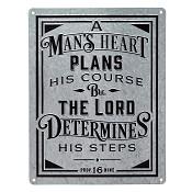 A man's heart plans his course : Wall plaque - 46 x 35,5 cm