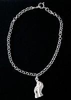 Christelijke zilveren ketting : Armband zilver 18cm kind in hand