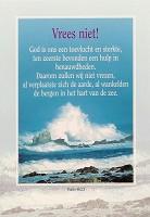Christelijke poster : Poster a3 vrees niet ps 46:2-3