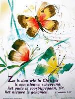Bijbelvers poster : Poster a3 2 cor 5:17 zo is dan wie in...