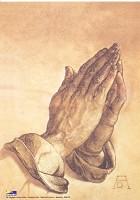 Christelijke poster : Poster a4 biddende handen