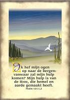 Christelijke poster : Poster a4 psalm 121:1-2