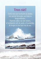 Christelijke poster : Poster a4 vrees niet ps 46:2-3