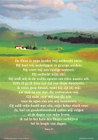 Christelijke poster : Poster a4 psalm 23