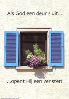 Christelijke poster : Poster a4 als God een deur sluit...