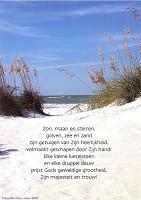 Christelijke poster : Poster zon, maan en sterren, golven, zee : christelijke poster