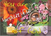Christelijke poster : Poster a4 you are beautiful in the eyes