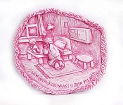 2 : Plateau gebed meisje roze