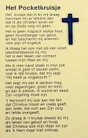 2 : Pocketkruisje nederlands [ 50 stuks ] : pocketkruisje