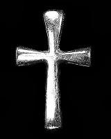Christelijke reverpin : Reverpin zilver kruis 14 mm