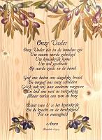 Onze Vader Mattheus 6:9-15 : Wandbord - 27,8 x 40 cm