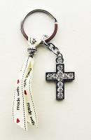 3 : Sleutelhanger kruis made-with-love : Sleutelhanger en tassenhanger