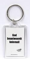sleutelhanger 'God beantwoordt kniemail' [ 3 stuks ] : Visje sleutelhanger