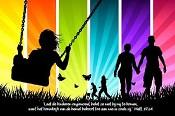 prentbriefKaart 'Laat de kinderen ongemoeid' [ 12 stuks ] : christelijke kaart