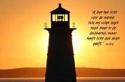 prentbriefKaart 'Ik ben het licht der wereld' [ 12 stuks ] : christelijke kaart