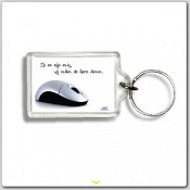sleutelhanger 'Ik en mijn muis' [ 3 stuks ]