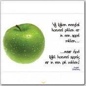 Poster 'Wij kijken meestal hoeveel pitten er in een appel zitten' [ 3 stuks ] : christelijke miniposter