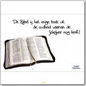 Poster 'De Bijbel is het enige boek uit de oudheid waarvan de schrijver nog leeft' [ 3 stuks ] : christelijke miniposter