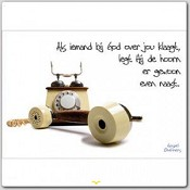 Poster 'Als iemand bij God over jou klaagt' [ 3 stuks ] : christelijke miniposter