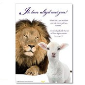 Poster 'Ik ben altijd met je' [ 3 stuks ] : christelijke miniposter