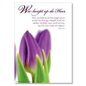 Poster 'Wie hoopt op de Heer' [ 3 stuks ] : christelijke miniposter