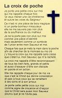 Christelijk minikaartje : Pocketkruisje frans [ 10 stuks ]